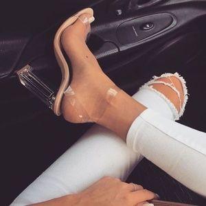 Clear Nude High Heel